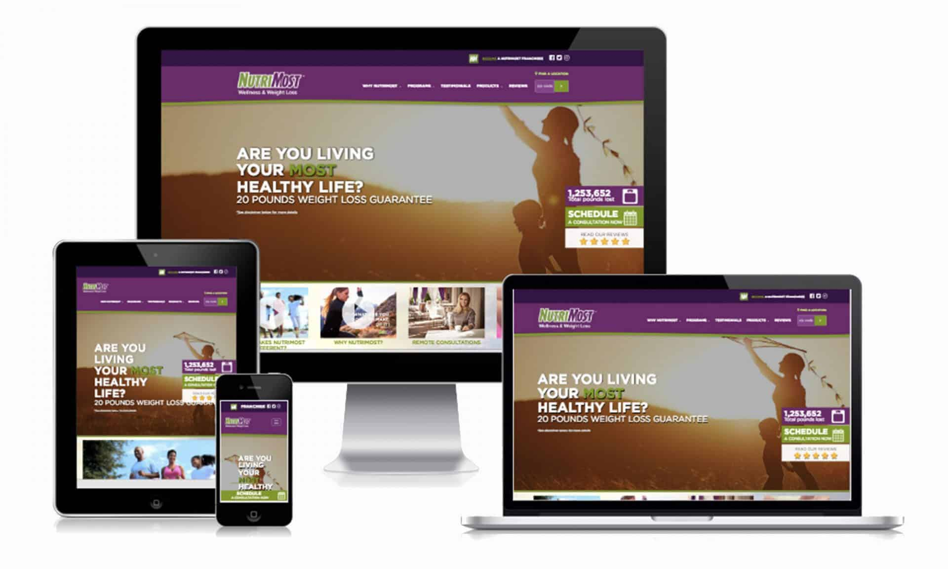 An example of Responsive web design for a mobile ready website