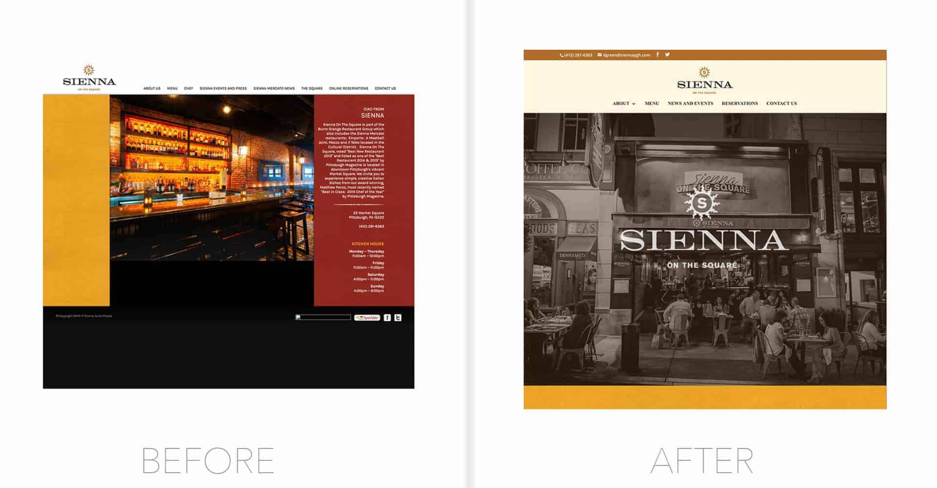 Sienna Website Design