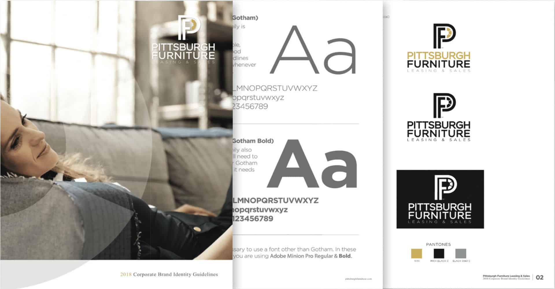 Brand Style Guide Example from Pittsburgh Furniture Drift2 Creative Design Solutions