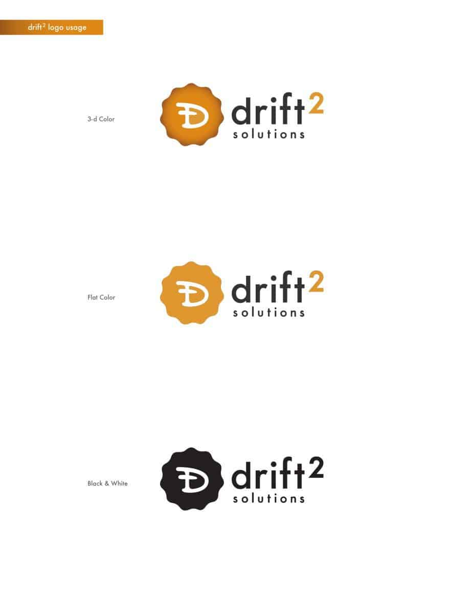 D2 Solutions Logo Style Options for logo design