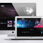 DJ Scar Website Design by Drift2 Web Solutions.