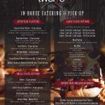 Twelve Whiskey & BBQ Catering Menu Design